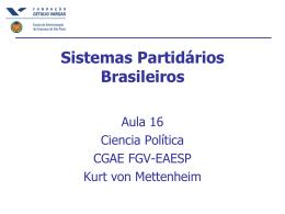 Sistemas Partidários Brasileiros - FGV
