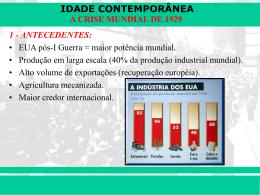 a crise mundial de 1929
