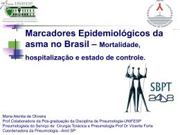 Mortalidade, hospitalização e estado de controle.