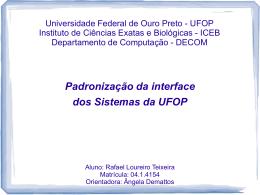 apresentação - DECOM-UFOP