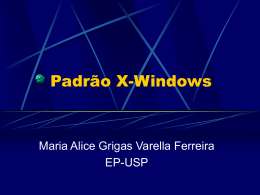 A proposta do sistema X-Windows