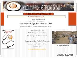 Enterocolite necrosante - Paulo Roberto Margotto