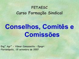 Conselhos, Comitês e Comissões