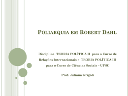 Poliarquia em Robert Dahl