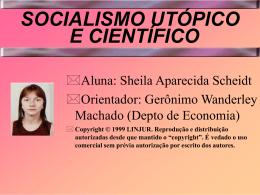 SOCIALISMO UTÓPICO E CIENTÍFICO