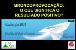 Teste de Broncoprovocação