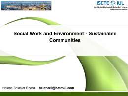 Social Work and Environment