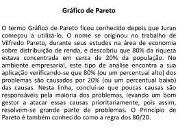 Quarto Passo: Gráfico de Pareto - Universidade Castelo Branco