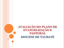 avaliação do plano de evangelização e pastoral