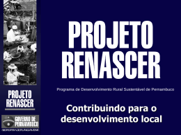 PCPR - Projeto de Combate à Pobreza Rural