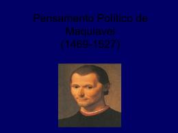 Pensamento Político de Maquiavel (1469