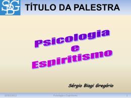 Psicologia e Espiritismo