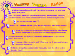 Receita de Iogurte Iami (apresentação) - e-Bug