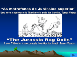 Jurássico final da praia das Gentias
