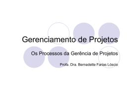 3 - Processos da Gerência de Projeto