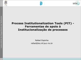 Uma metodologia para a definição e evolução de processos de