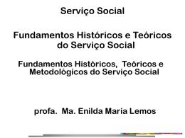 Fundamentos Históricos e Teóricos do Serviço Social