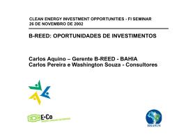 FI Seminar - Rio nov02 - B-REED