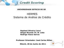 O Serviço Concessão de crédito