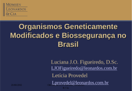 Organismos Geneticamente Modificados e