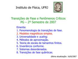 S - Instituto de Física / UFRJ