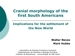 Cranial morphology of early Americans from Lagoa Santa