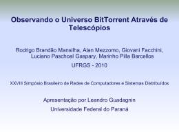 Observando o Universo Bit - UFPR