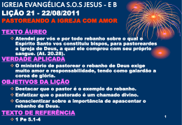22/08/2011 pastoreando a igreja com amor