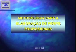 Metodologia para Elaboração de Perfis Profissionais 1