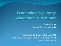 Economia e Segurança Alimentar e Nutricional