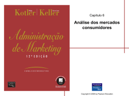 Análise dos mercados consumidores
