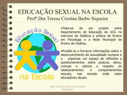 Educação Sexual na Família e na Escola