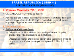 República Velha Oligárquica