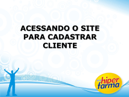 Slide 1 - Rede Hiperfarma