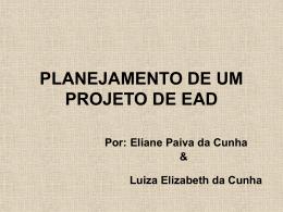 PLANEJAMENTO DE UM PROJETO DE EAD