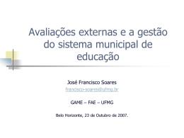 educação escolar - Câmara Municipal de Belo Horizonte