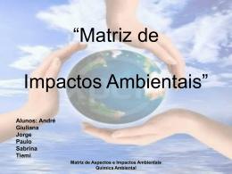 Matriz de Impacto Ambiental