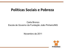 Políticas Sociais e Pobreza