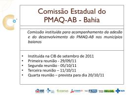 Apresentação do PMAQ - Oficina da Rede Cegonha