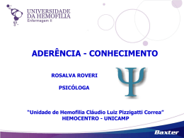 Apoio Psicológico – Aderência com conhecimento – Rosalva Roveri