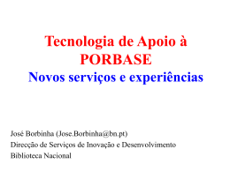 Slides 273 Kb - Biblioteca Nacional de Portugal