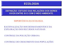 ecologia - Universidade Castelo Branco