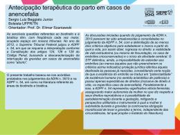 Antecipação terapêutica do parto em casos de anencefalia