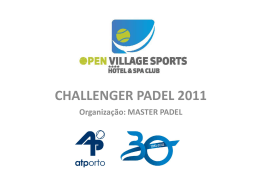 CHALLENGER PADEL 2011