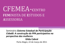 cfemea - Secretaria de Políticas para as Mulheres do RS
