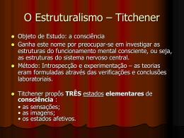 O Estruturalismo – Titchener