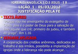 05/03/2012 justificação pela fé