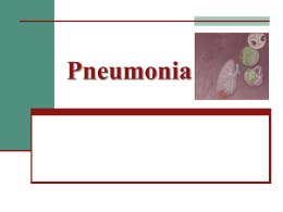 Pneumonia - Universidade Castelo Branco