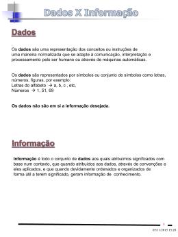 Dados versus Informaçao