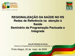 ppi regionalização - Secretaria da Saúde